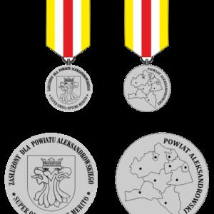 """Odznaka """"Zasłużony dla Powiatu Aleksandrowskiego"""""""