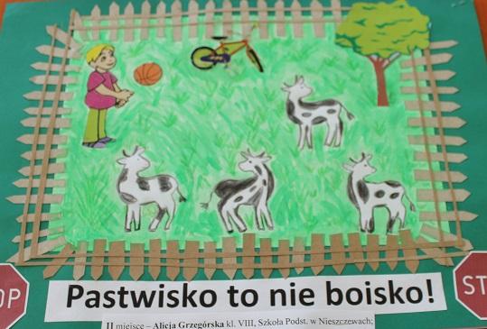 """Wręczenie nagród w konkursie pn.""""Bezpiecznie na wsi: nie ryzykujesz, gdy zwierzęta znasz i szanujesz"""""""