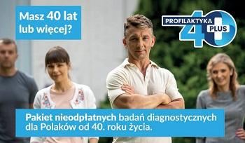 Profilaktyka 40 Plus w Ciechocinku. Bezpłatne badania i konsultacje
